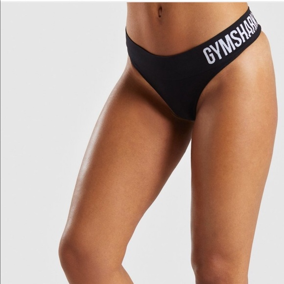 dd23accdc25 Gym shark seamless black thong gym workout nwt s